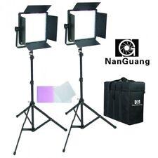 Kit 2 paneles Led Nanguang Cn-600csa Bi-color Cri 95 con aletas maleta y Ventan