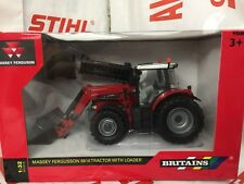 Britains 43082A1 Massey Ferguson 6616 Tractor & Loader 1:32 Replica Model Toy