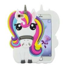 Cute 3D Rainbow Unicorn Soft Silicone Case Cover For iPhone Samsung Huawei Model