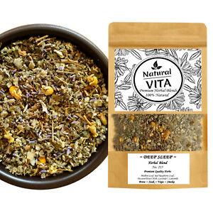 DEEP SLEEP Herbal Blend / Mix Herbs MULLEIN RASPBERRY LAVENDER  Smoke Tea