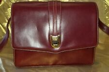 AUTHENTIC GUCCI BURGUNDY CROSSBODY BAG SMOOTH LEATHER HANDBAG  S#4060010477