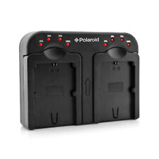 Polaroid Double Dual Battery Charger For Nikon Batteries EN-EL14 ENEL15 EN-EL20