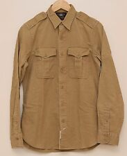 NEW Ralph Lauren RRL DOUBLE RL Men's Brown Casual Cotton Work Shirt S