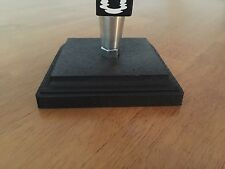 Beer Tap Handle Display Stand Solid Wood Black Square NEW (Display Only!!)