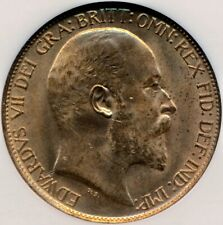More details for 1903 halfpenny edward vii uncirculated ngc ms 65 bn freeman 382