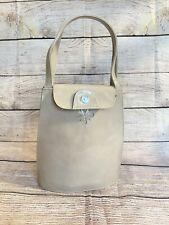 Vintage Charles Jourdan Paris Made In Spain Patent Leather Handbag/ Purse,Beige