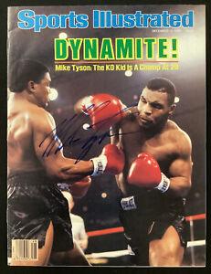 Mike Tyson Signed Sports Illustrated 12/1/86 NoLabel Boxing KO Kid Autograph JSA
