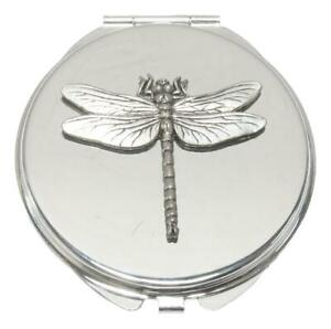 Dragonfly Compact Mirror Handbag Gift With Free Engraving 110