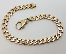 Fabulous 9ct Gold Gents Curb Link Bracelet.  Goldmine Jewellers.