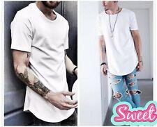 men's T Shirt Kad T-Shirt Men's clothing Curved Hem Lone