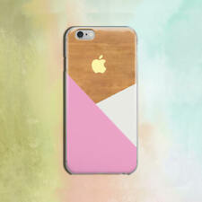 Geometry iPhone XS Max Case Wood iPhone 11 6s Cover Pink White iPhone 7 8 Plus X