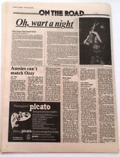 AC/DC CLASH PINK FAIRIES live reviews 1976 UK ARTICLE / clipping