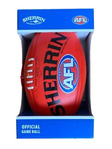 Sherrin Official Game Ball AFL Premiership Football Genuine Leather Size 5