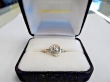 14 Kt White Gold .05 Ct Diamond Solitaire 2.4 Gr, Size 5