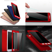 Fr OPPO R15 R11 A73 A57 R11s Full Protector Case PC+Glass Screen Protector Cover