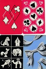 MINIATURES - 4    single vintage swap playing cards !