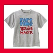 "NWT 5 Gymboree SUPER HERO ""Part Time Trouble Maker"" Gray Tee SHIRT TOP. . RARE!"
