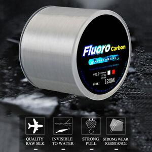 120M Fishing Line Carbon Fiber Coating Nylon String Cord Fluorocarbon StrongLine