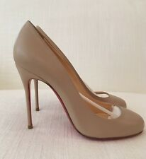 Christian Louboutin Fifi 100 Blush Nude Leather Pump Size 37 NEW IN BOX