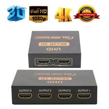 UHD 3D 4K 2K full hd 1080p répartiteur HDMI 1x4/1x2 4/2 PORTS