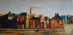 Sali Herman, Near the Docks, Woolloomooloo,  Rare Australian Art Print. Large.
