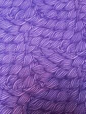 Purple FQ Fat Quarter Fabric Flowers Patterns RARE 100% Cotton Quilting