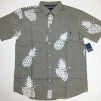 Jack O'Neill Men's Button Down Shirt Collection Pineapple Medium Khaki