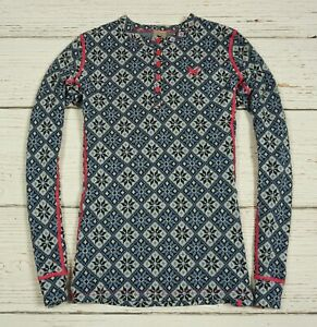 KARI TRAA 100 % Merino Wool Winter Base Layer Shirt Top Size L