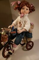 Vintage Porcelain Doll Duck House Heirloom 1687/5000 Red Hair Tricycle Teddy