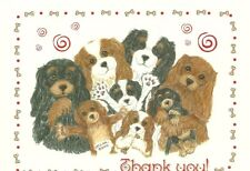 Thank You! Cavalier King Charles Spaniel blank note card