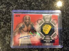 Anderson Silva 2018 Topps UFC Knockout Relic Auto Red 4/8