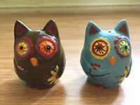 New Ceramic Owl Salt And Pepper Shakers