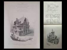 BERCK SUR MER, VILLAS - GRAVURES ARCHITECTURE 1905 - HENRI VALETTE