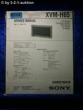 Sony Service Manual XVM H65 Headrest Monitor (#6114)
