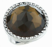 Sterling Faceted Smoky Quartz Doublet Ring   QVC SIZE 7
