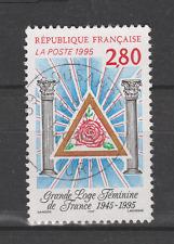 Timbre oblitéré YT 2967 Grande loge féminine de France année 1995