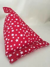 Red & White Stars Bean bag cushion Tablet kindle ipad ebook stand holder gift