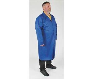 Condor 4TWE5 Static Control Collared Lab Coat, Blue, Size 2XL