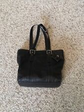 Coach F11201 Hampton Satchel Tote Black Leather Shoulder Bag
