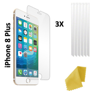 FOR APPLE iPHONE 8 PLUS 3 X NEW FLEXIBLE PLASTIC CLEAR FILM SCREEN PROTECTOR