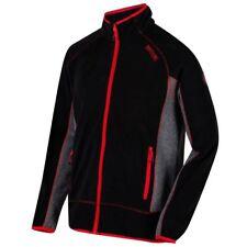 Side Stretch Fleece Regatta Ashton Mens Lightweight Zip Work Jacket Black