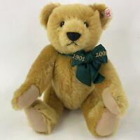 "Steiff Danbury Mint The Growler Bear 1908-2008 100 Years Commemorative Teddy 11"""