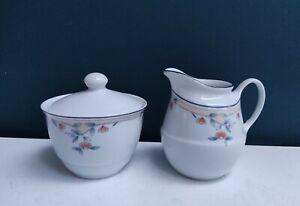 Melody Princess House Brazil Fine Porcelain Sugar Bowl & Milk Jug/Creamer Set