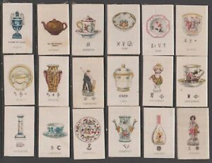 CIGARETTE CARDS Lea 1914 Old Pottery (silks) - complete set