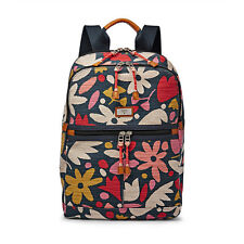 FOSSIL Blake Floral Navy BackPack Women's Book Bag NWT