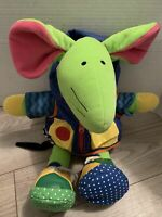 GREEN EARLY YEARS MOUSE TODDLER INFANT PLUSH LEARNING PURPLE DRESS ME JACKET