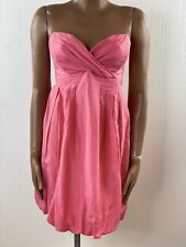 ZARA Pink Bubble Hem Sweetheart Strapless Dress Small