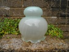 Antique Vaseline glass ceiling light shade - early 20th century rare glass