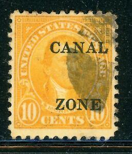"CANAL ZONE Used Selections: Scott #87 10c Orange MONROE SHARP ""A"" CV$12+"