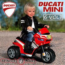 Mini Ducati 6v Kids Electric Ride On CAR BIKE TRIKE - LICENCED MOTORBIKE - NEW